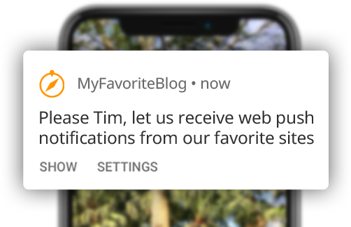 When will Apple implement iOS web push notifications?